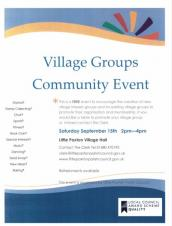 Community Groups Showcase event