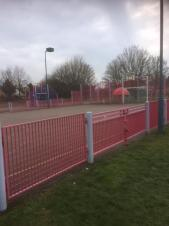 Floodlights on the Multi Use Games Area
