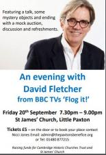 An evening with David Fletcher from BBC's TV 'Flog It!'